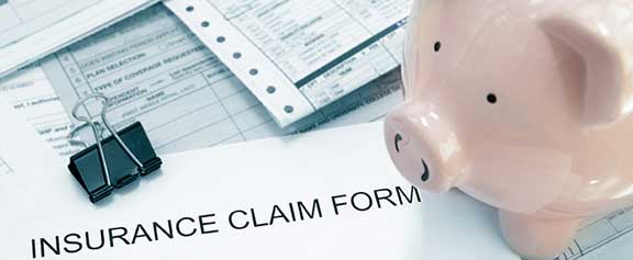 Piggy bank on insurance forms